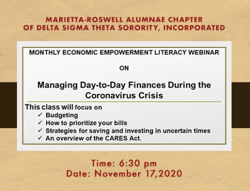 ECONOMIC EMPOWERMENT LITERACY WEBINAR: Managing Day To Day Finances During COVID 19
